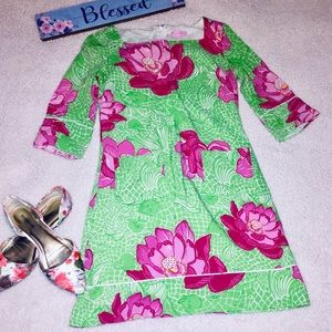 Lilly Pulitzer Green & Pink UPF 50+ Sophie Dress